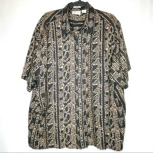 Vintage Natural Issue Short Sleeve Button Up XXL